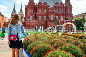 """Flower Jam"" special project appeared at Manezhnaya square:  the VDNKH map made of chrysanthemums"